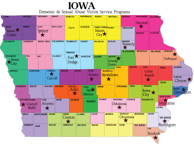Iowa County Map Area  County Map Regional City
