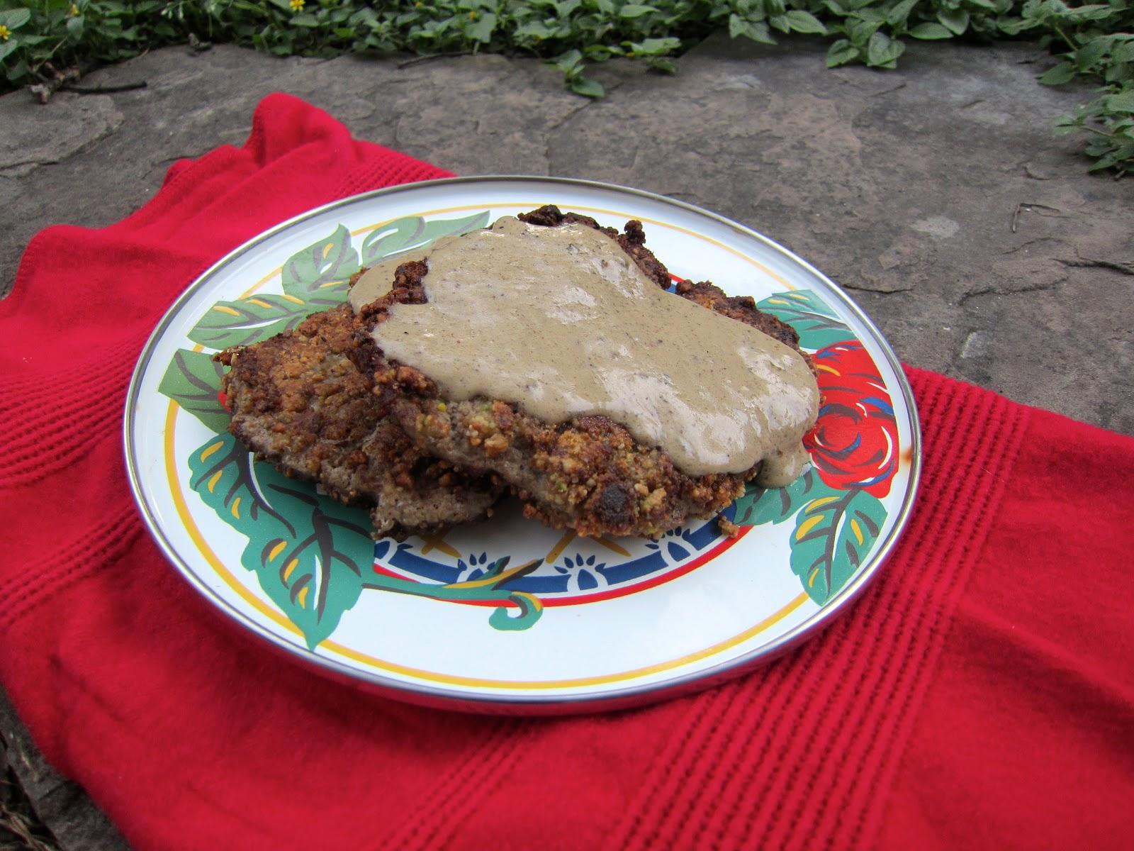 """... Three Diets One Dinner, Paleo Chicken Fried Steak with """"Cream"""" ..."""