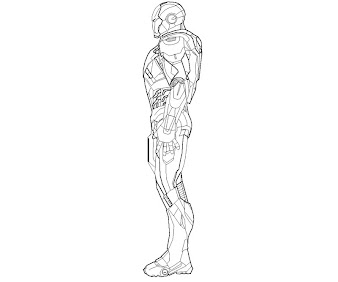 #6 Iron Man Coloring Page