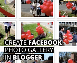 Membuat Facebook Photo Gallery di Blog