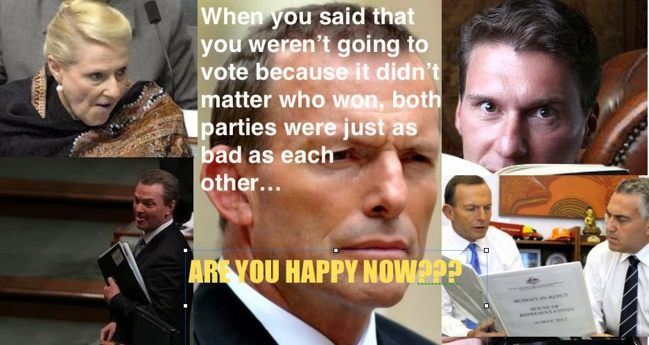 TONY ABBOTT CONTEMPT and DECEIT