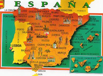 Aprender es divertido aventuras con el mapa de espa a for Ciudades mas turisticas de espana