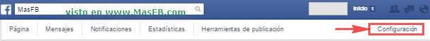 Configuración de Página en Facebook - MasFB
