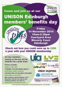 UNISON Edinburgh Members' Benefits Day