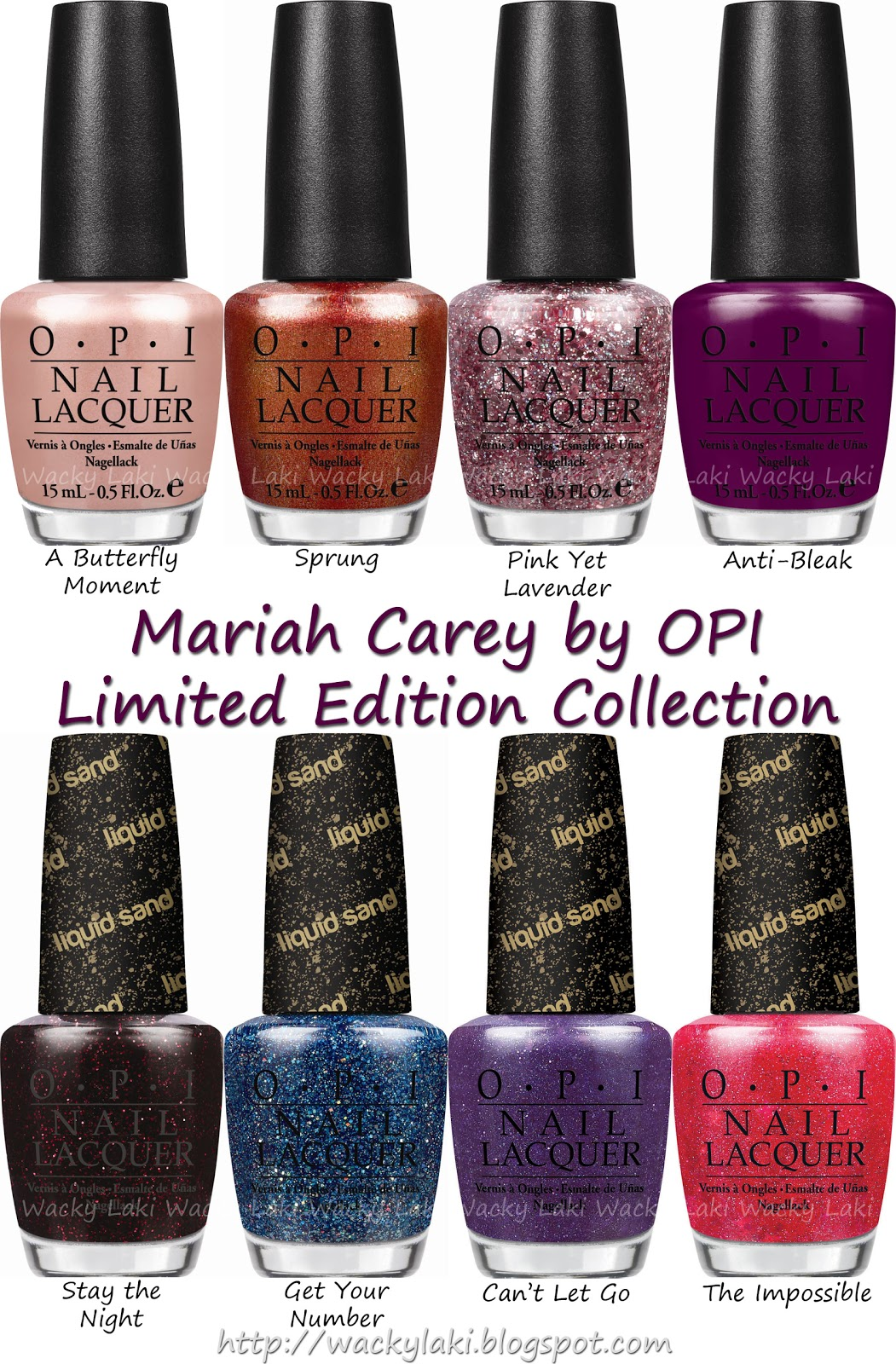 Wacky Laki: Press Release: Mariah Carey by OPI Collection