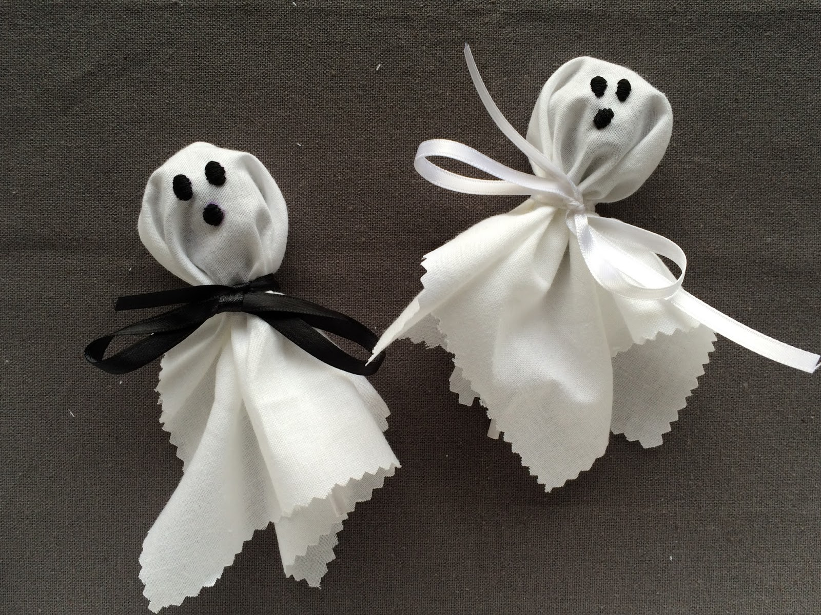 Embroidered Halloween Ghost Lollipop Covers