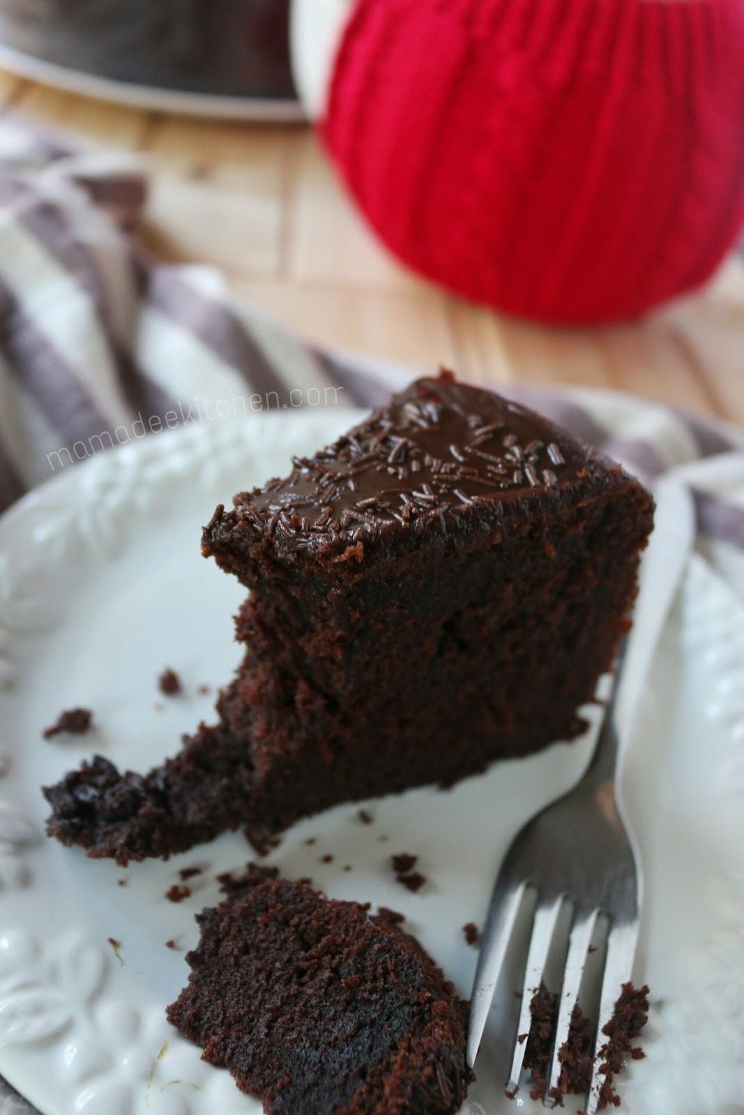 Mamadees Kitchen Kek Coklat Moist Mudah Dan Sedap