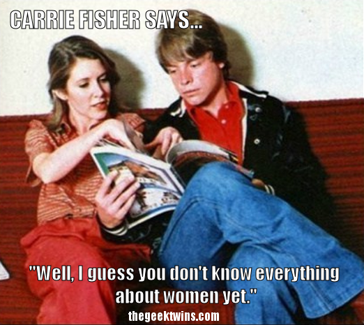Princess Leia's Best Quotes with Carrie Fisher's Funniest Pictures [Star Wars] - The Geek Twins