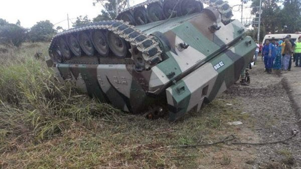 Kereta Perisai terbalik Dua anggota Tentera terbunuh di Sabah