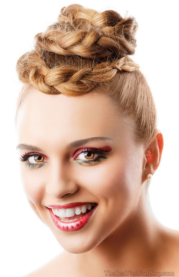 Latest Bun Hairstyles 2015 For Women Jere Haircuts
