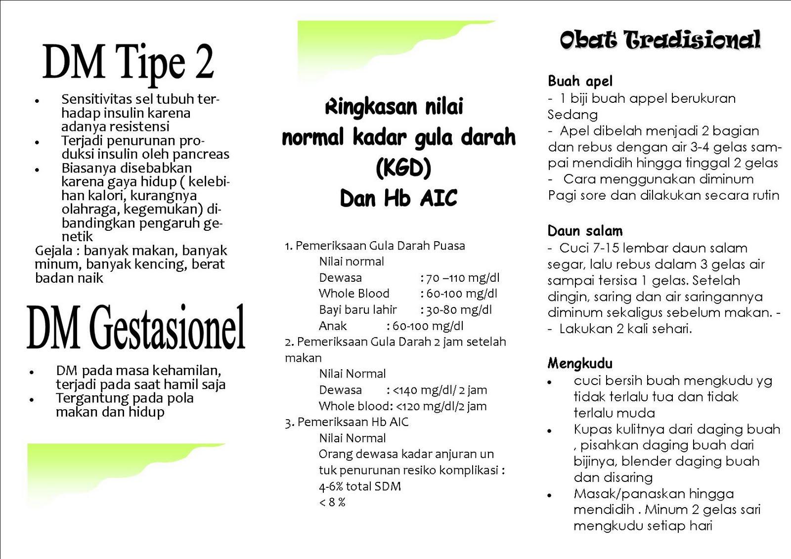 Contoh Leaflet Diabetes Melitus Genuardis Portal Picture