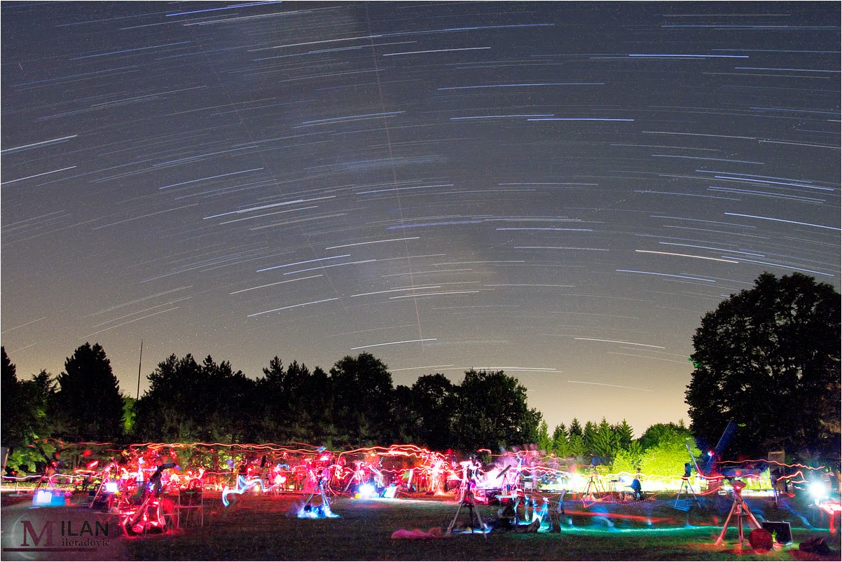 Startrails over Letenka