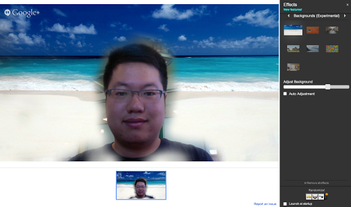 Google Effects for Google+ Hangouts