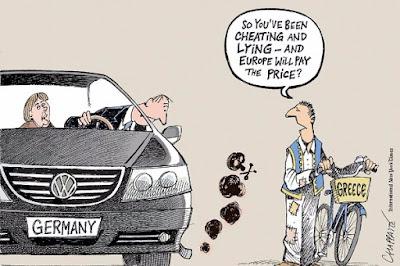 Το σκίτσο των New York Times για το σκάνδαλο Volkswagen και τη σχέση του με την Ελλάδα
