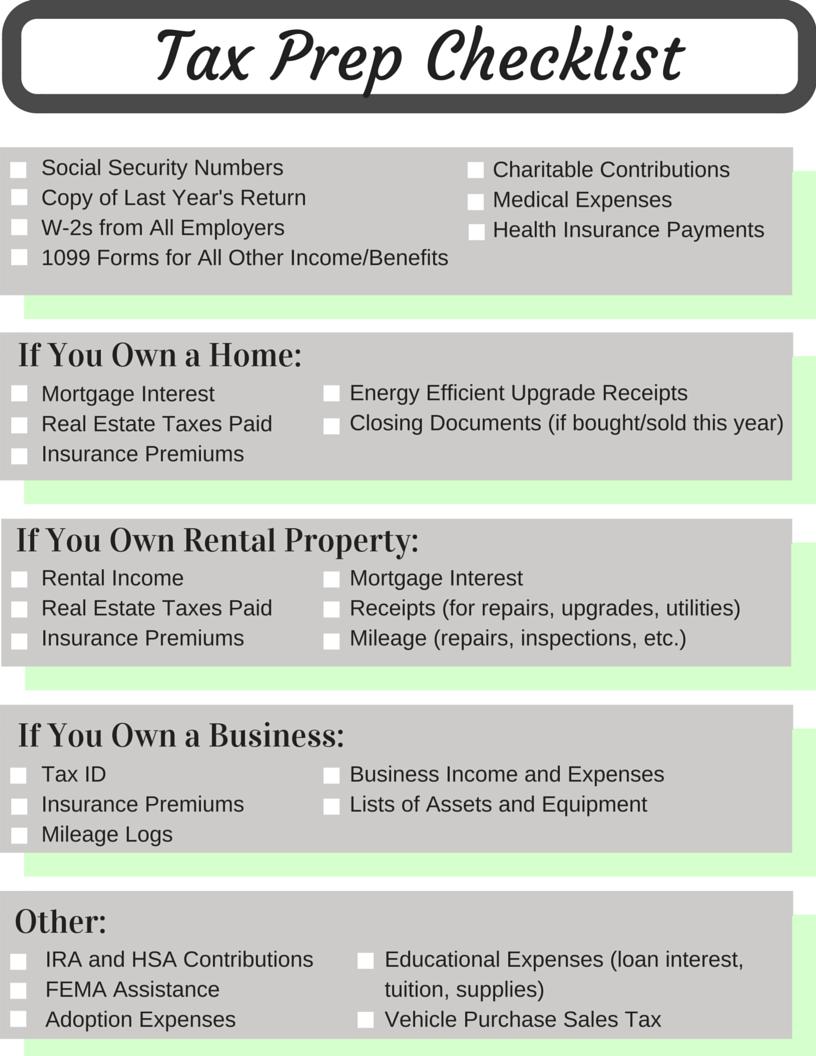 tax expenses list