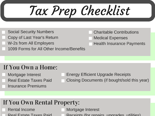 Financial Tip of the Month: Tax Prep Checklist