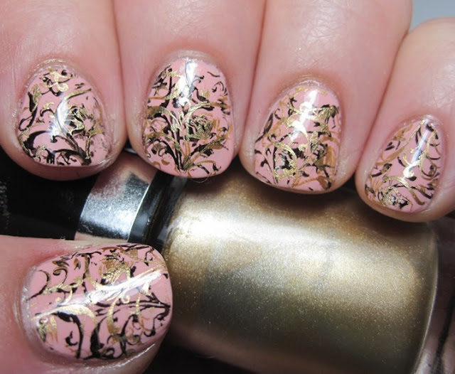 Genevieve with the floral/filigree stamp from Mash-43
