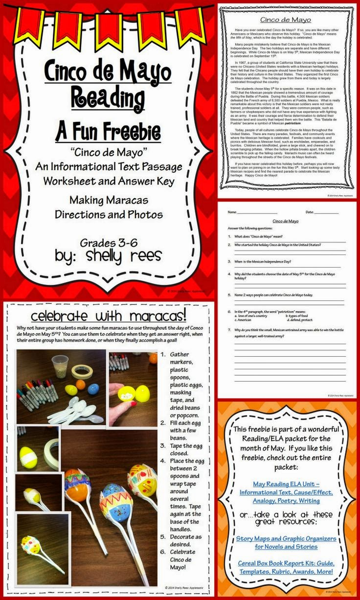 http://www.teacherspayteachers.com/Product/Cinco-de-Mayo-Reading-Freebie-Informational-Text-Worksheet-Craft-1227683