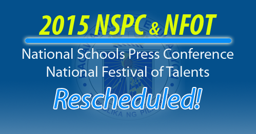 2015 National Schools Press Conference and National Festival of Talents new schedule