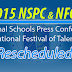 2015 NSPC, NFOT rescheduled due to Typhoon Chedeng