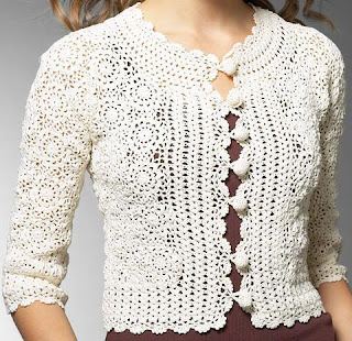 Crochet Jumper Patterns Uk : Crochet Clothes - Crochet Sweater & Top Patterns - White
