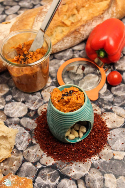 Brotaufstrich Bohnen Tahin Tomate paprika Chili