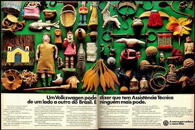 propaganda Volkswagen - 1976.  reclame de carros anos 70. brazilian advertising cars in the 70. os anos 70. história da década de 70; Brazil in the 70s; propaganda carros anos 70; Oswaldo Hernandez;