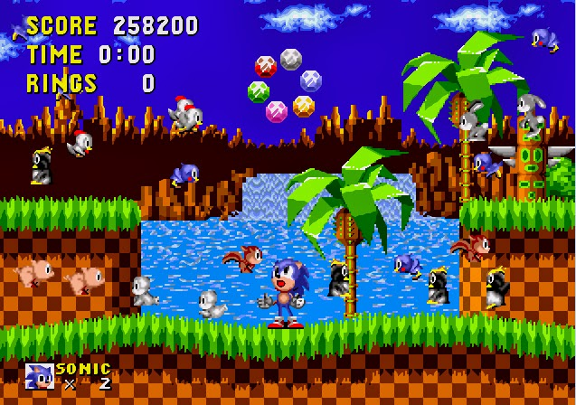 chaos emeralds, sonic 1 special ending scene, all chaos emeralds in sonic 1