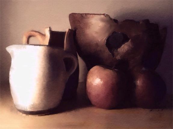 Still life with wooden bowl © Brett Chenoweth