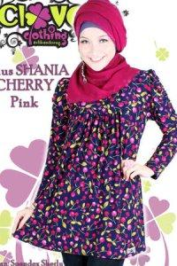 Clover Clothing Blus Shania Cherry - Pink (Toko Jilbab dan Busana Muslimah Terbaru)