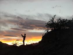 Entardecer nos Andes