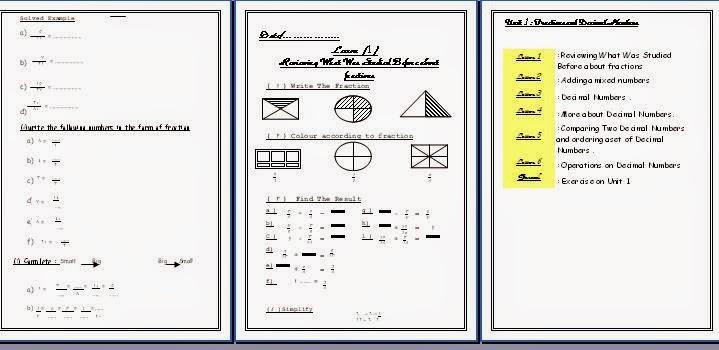 مذكرة maths للصف الرابع الابتدائى اللغات والتجريبى الترم الثانى 2015