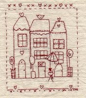 French Houses Stitchery series