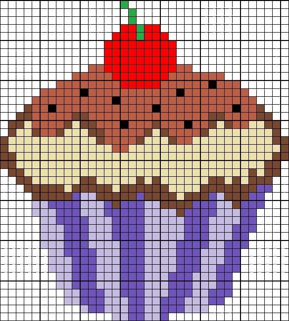 Patrones de cupcakes en punto de cruz | El Taller de Ire