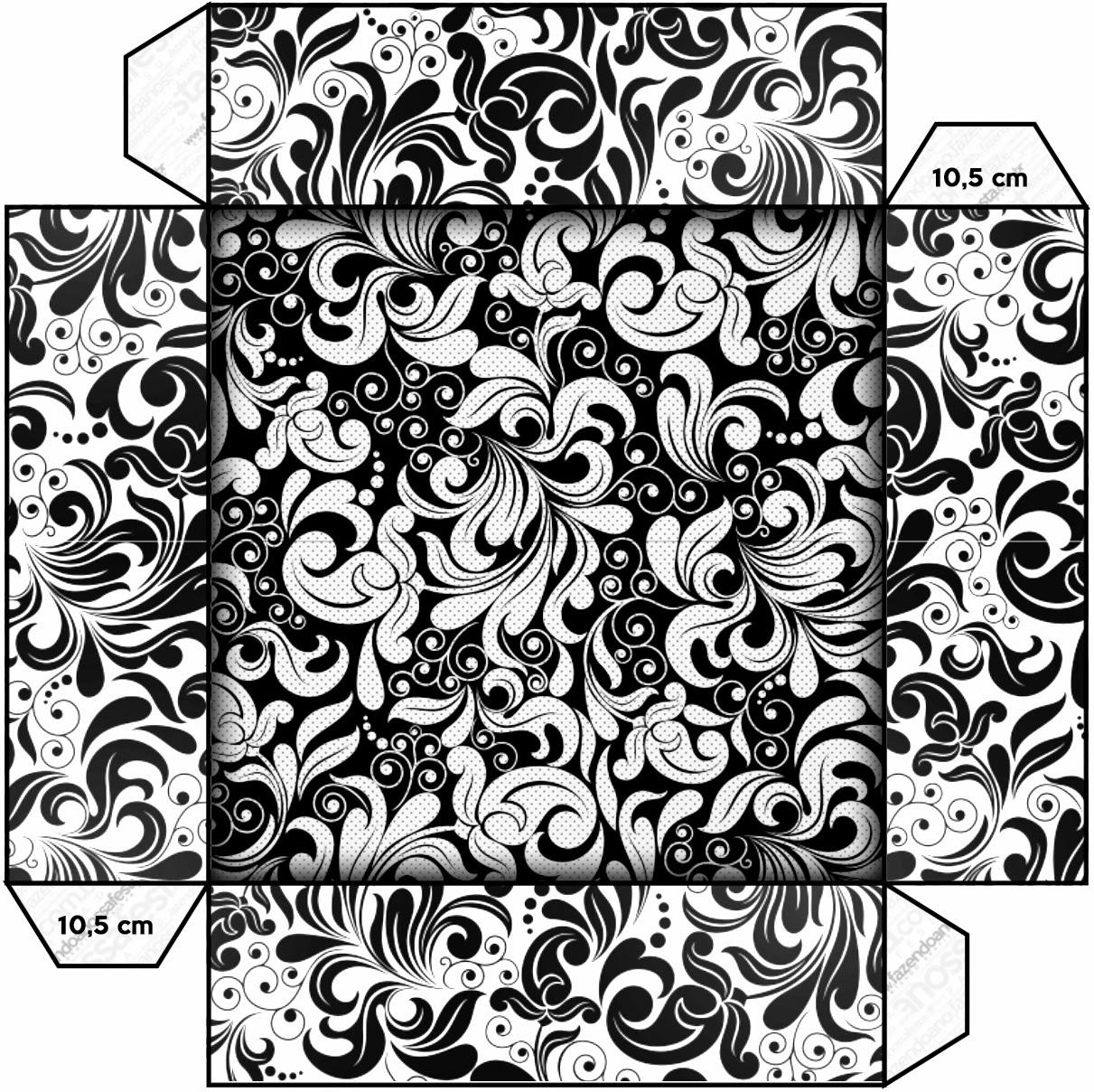 Blanco y Negro: Cajas para Imprimir Gratis. | Ideas y material ...