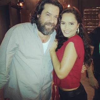 ... con Ana Lucia Dominguez, una de las protagonistas de la telenovela