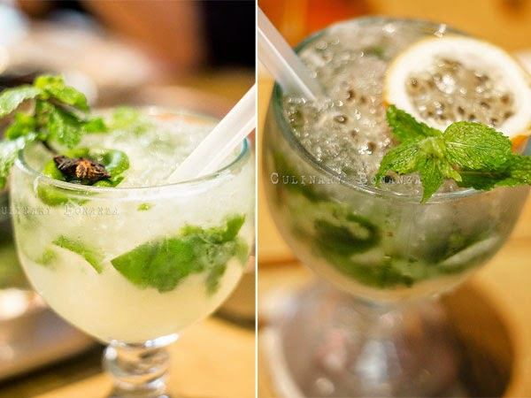 Left: Spiced Mojito | Right: Passionfruit Mojito (Culinary Bonanza)