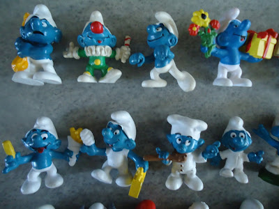 MEGA LOT 22 SMURF FIGURES/FIGURINES BY PEYO SCHLEICH ORIGINAL WITH MARKINGS