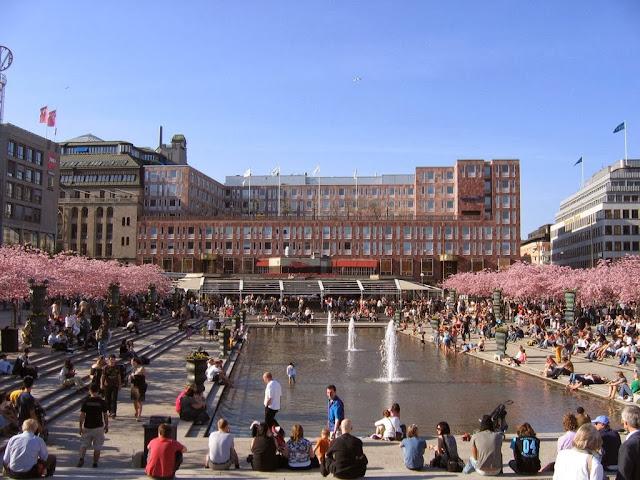 Parque Kungsträdgarden en Estocolmo, Suecia