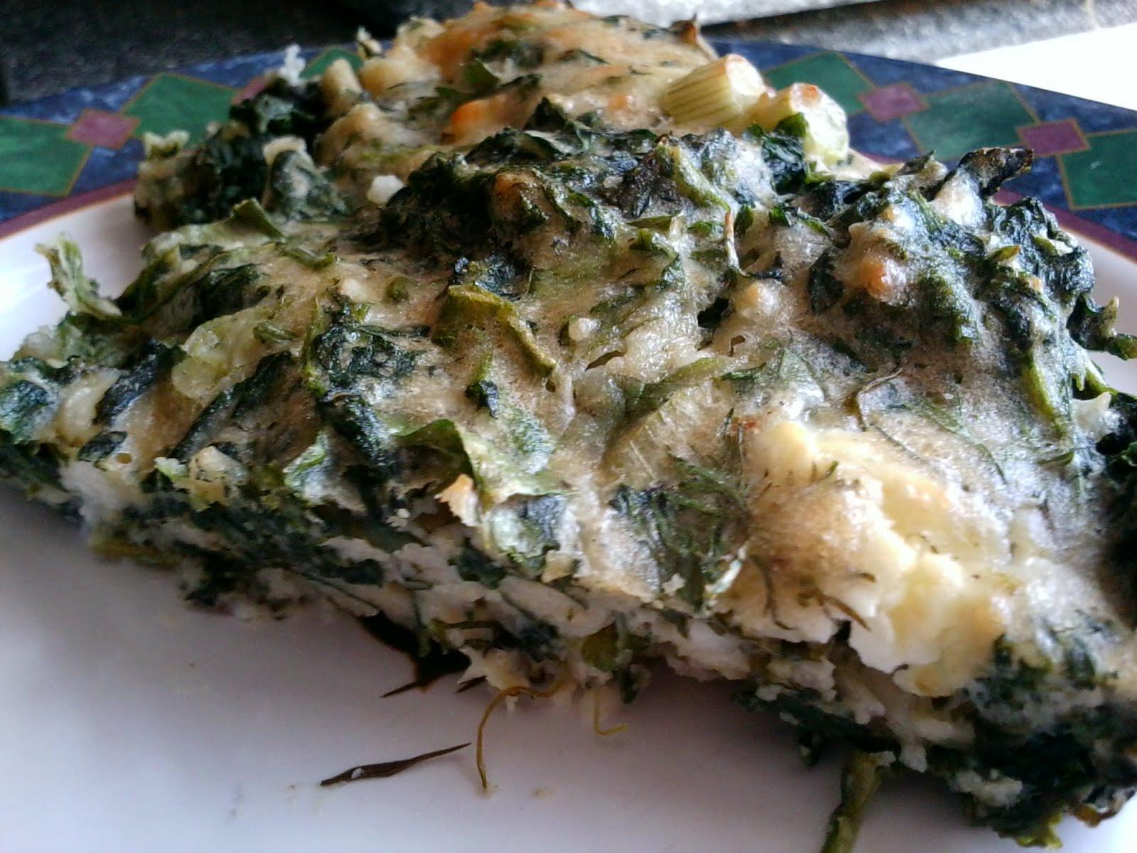 Lifetime Loser: Recipe: Easy Crustless Spinach-Feta Pie
