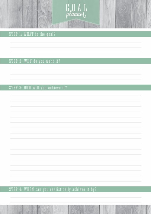 Free Printable Home Organizer Goal Planner