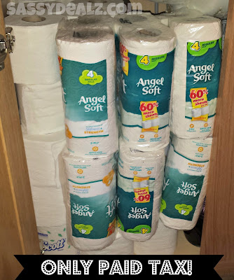 toilet paper couponing stockpile