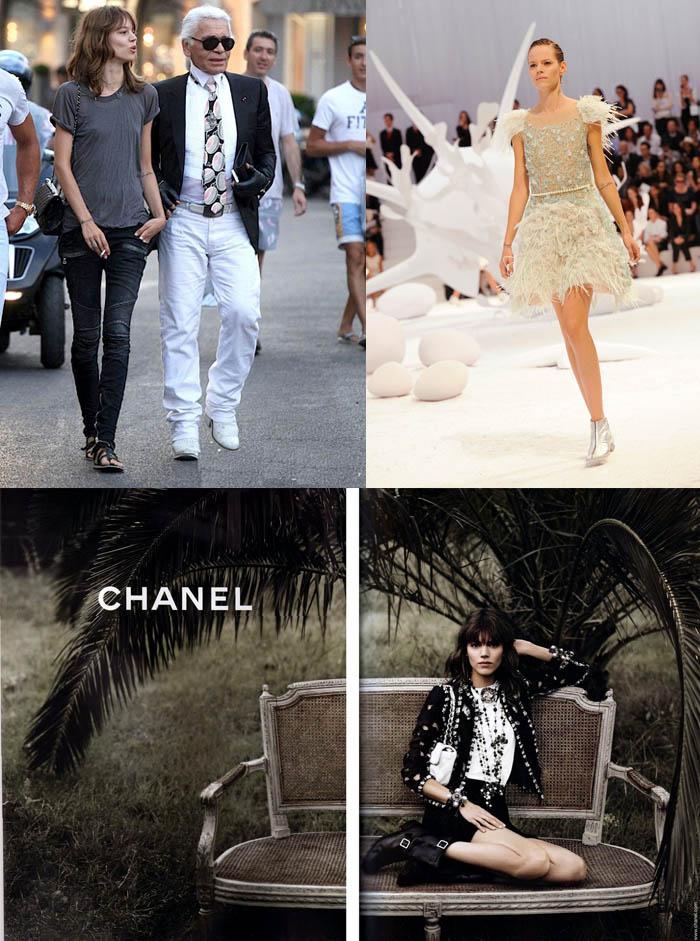 O LADO BOM DE SER FREJA BEHA_Karl Lagerfeld_modelo da chanel_campanha da Chanel_desfile da Chanel_amizade de Karl Lagerfeld