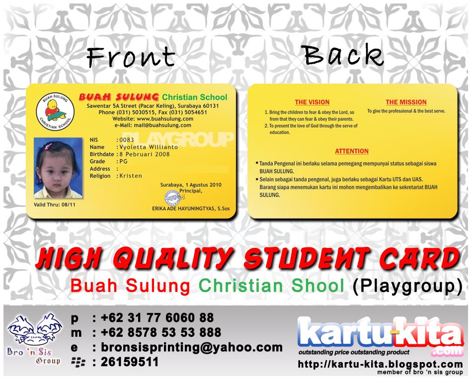Kartu Siswa Kartu Tanda Anggota ID Card Member Card PVC Card Murah