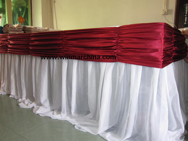 Swags Are Commonly Attached With Overlap Clips That Will Not Flatten Or  Damage The Table Skirt Pleating. Swags Are An Easy Way To Dress Up An  Otherwise ...