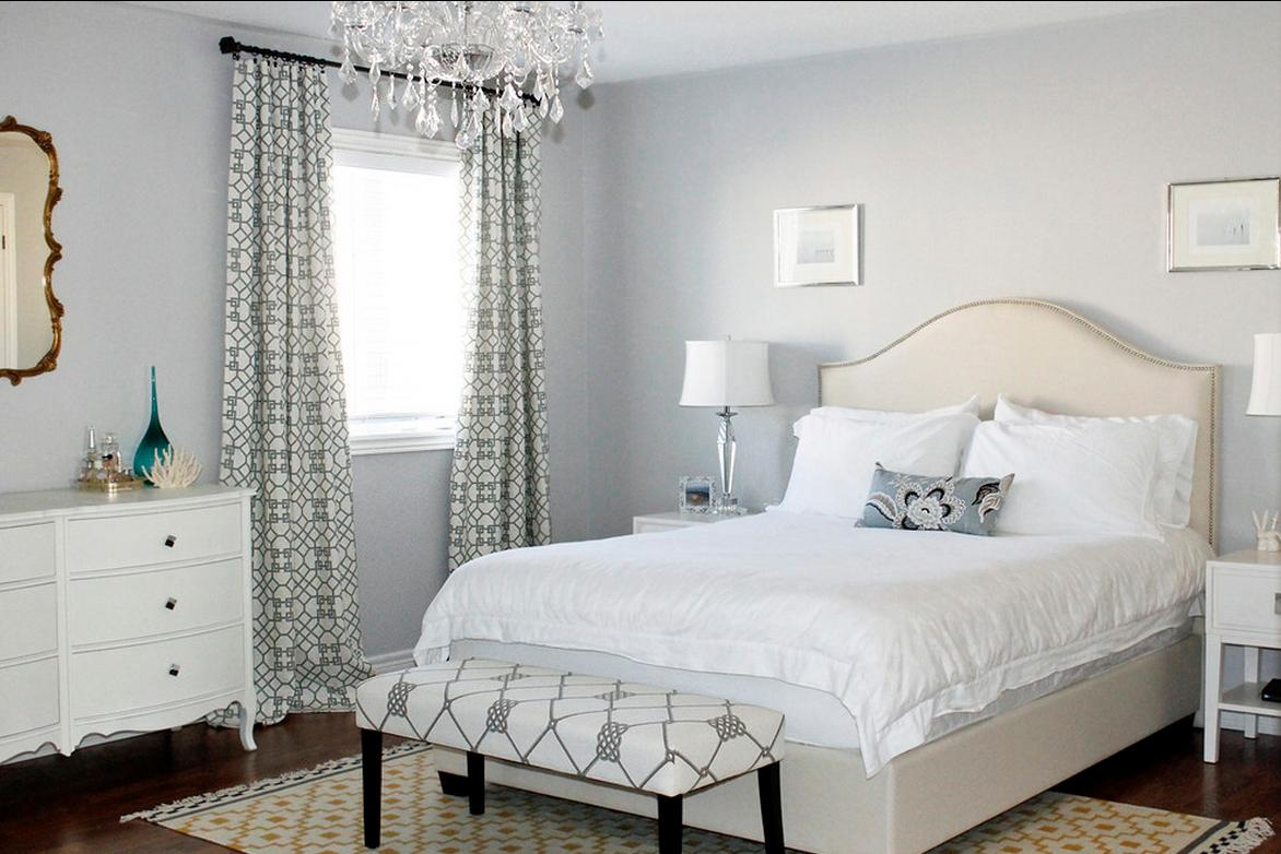 Delorme designs pretty bedrooms for Bedroom inspiration grey walls
