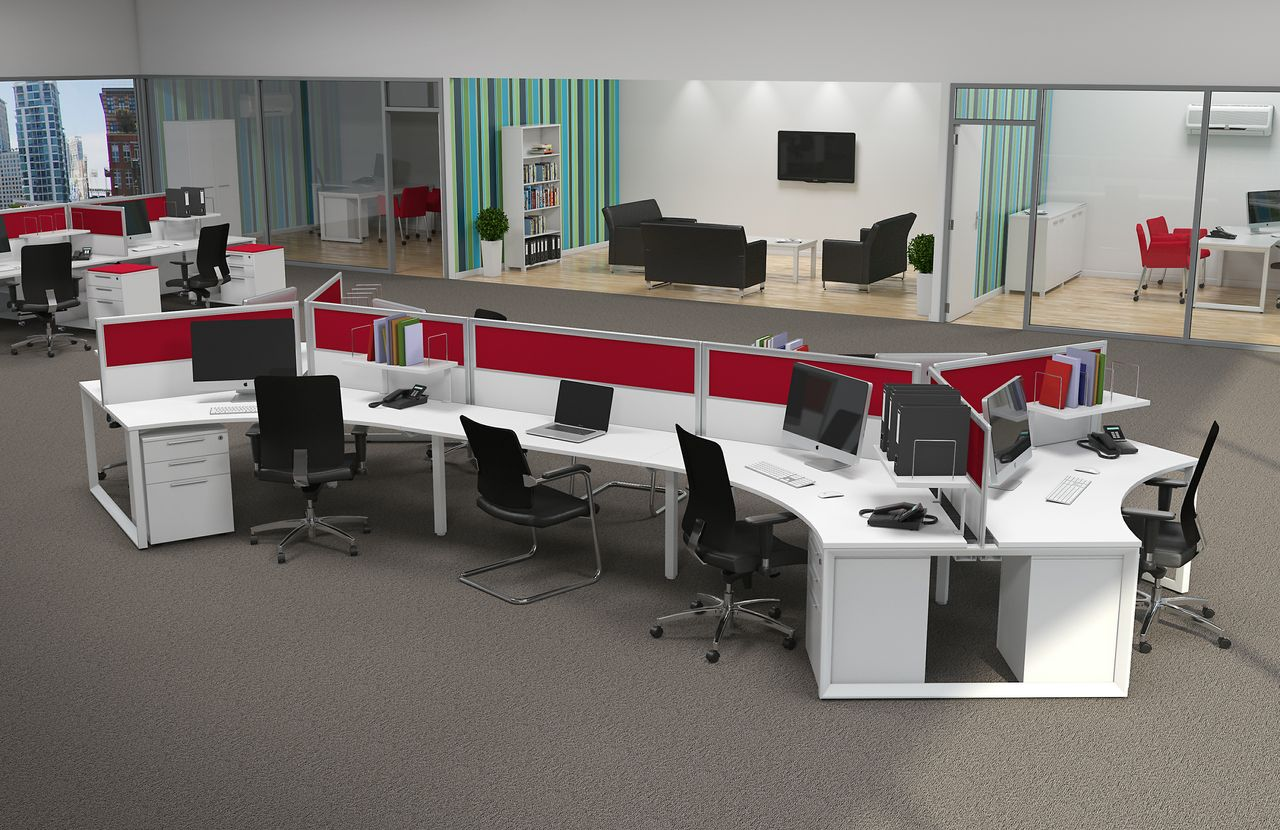 Office Open Layout By Arcs Design Furniture Pinterest