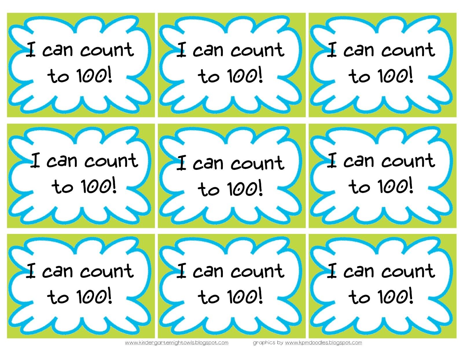 Kindergarten Night Owls: More I Can Assessment Rings.