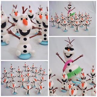 Olaf de verão em biscuit