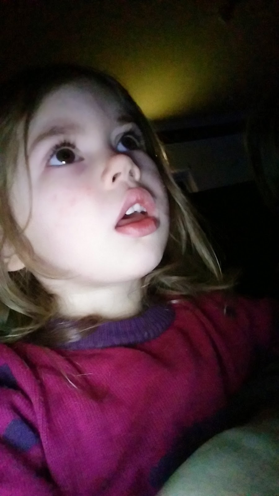 youngest captivated by the show